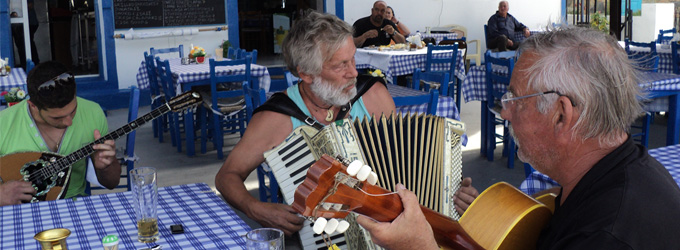 Music session in Ahrodite Restaurant Nisyros